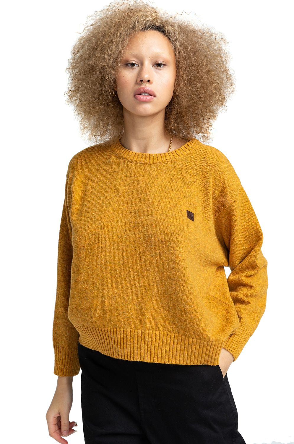 Element Sweater SLOWLY Old Gold