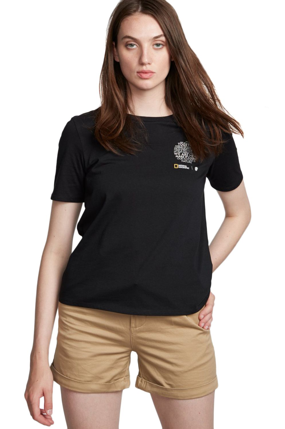 T-Shirt Element NAT GEO CR NATIONAL GEOGRAPHIC Black