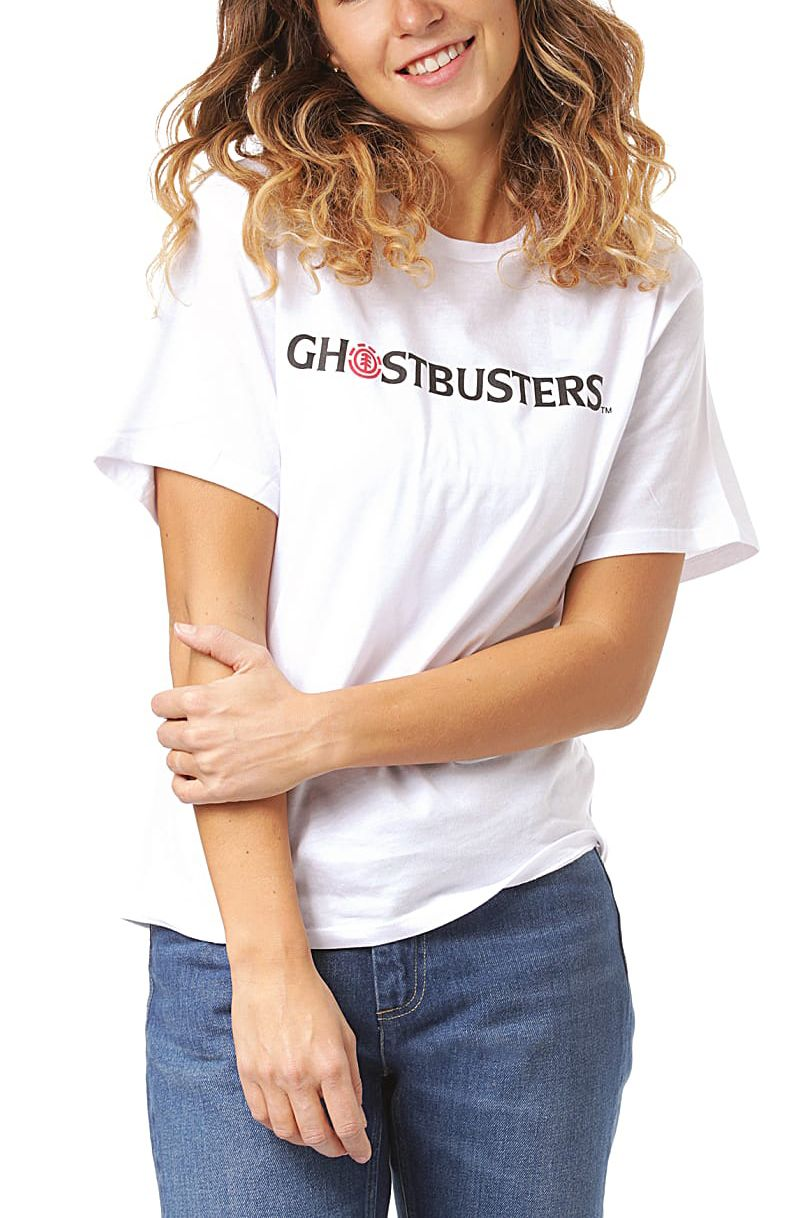 Element T-Shirt AINT AFRAID WO GHOSTBUSTERS Off White