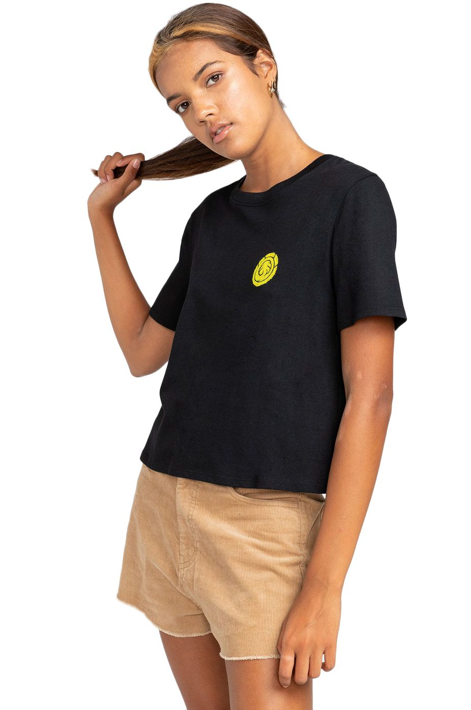 T-Shirt Element THE VISION CROP SS TIMBER COLLECTION Black