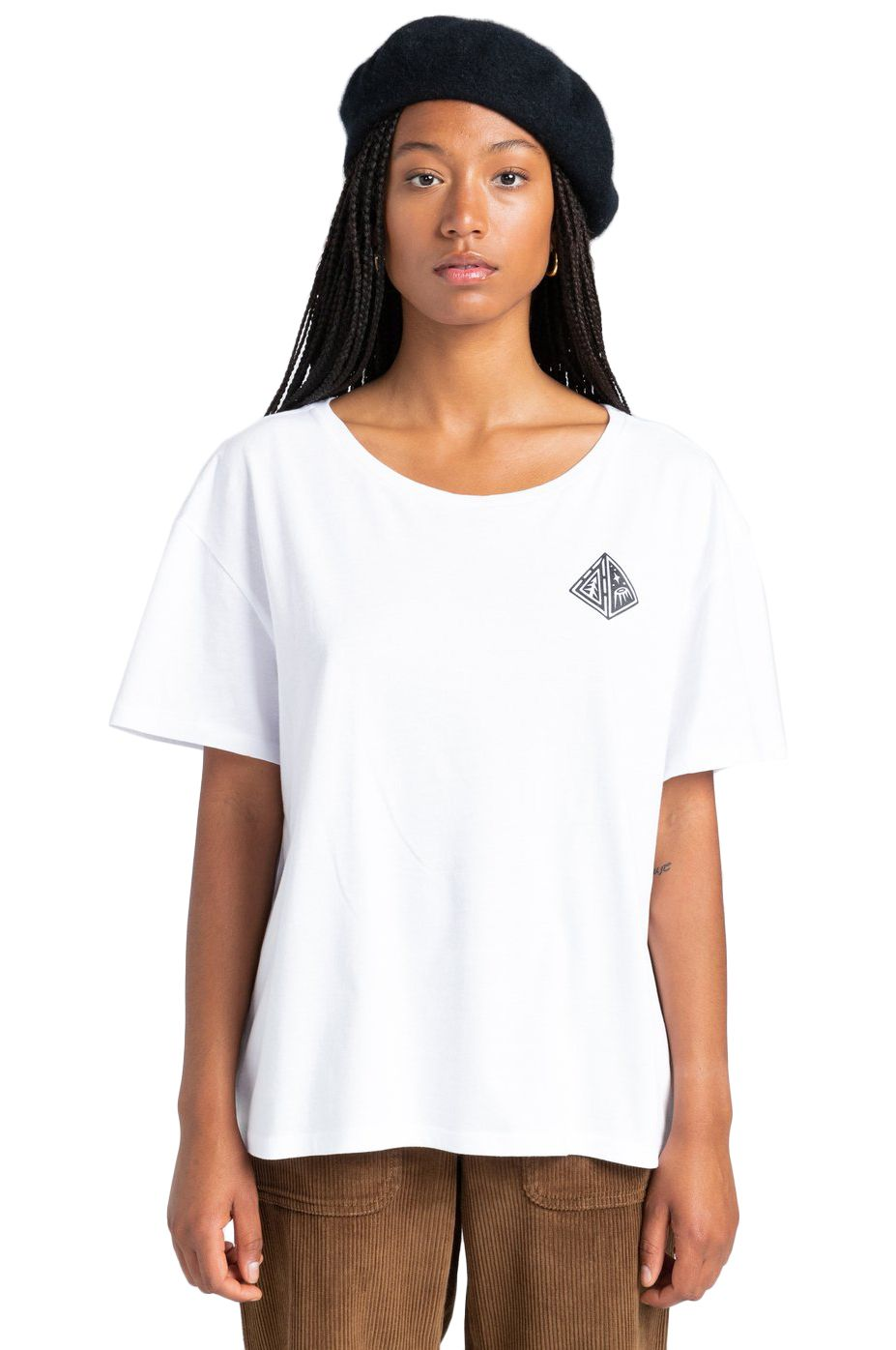 Element T-Shirt ELLIPTICAL SS W TIMBER COLLECTION Optic White