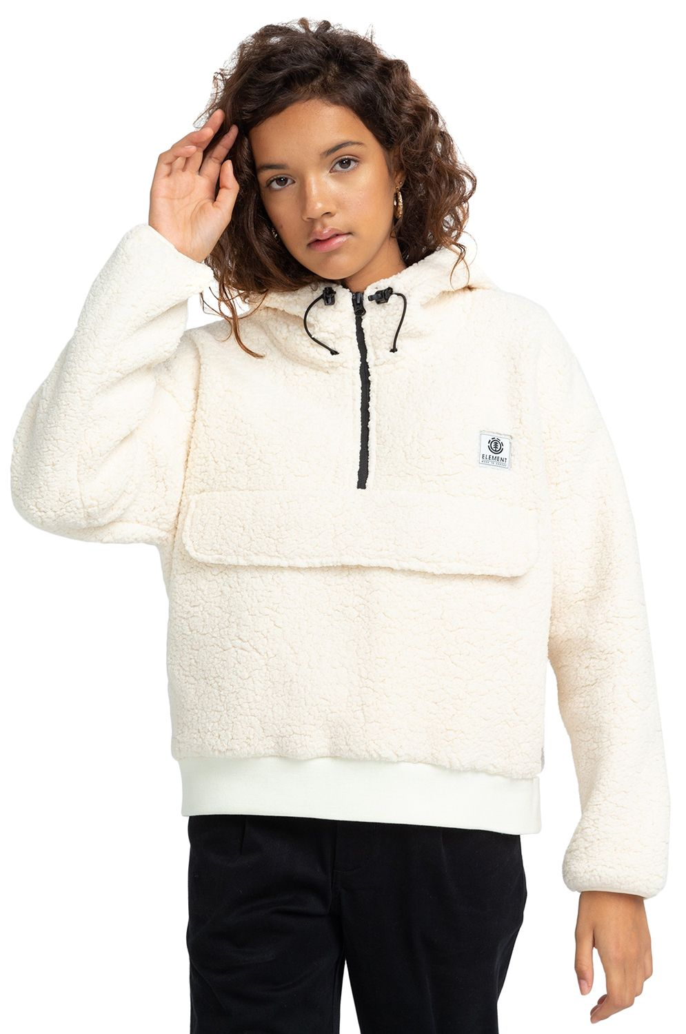 Element Sweat Warmer FAROE QTR ZIP W Bone White