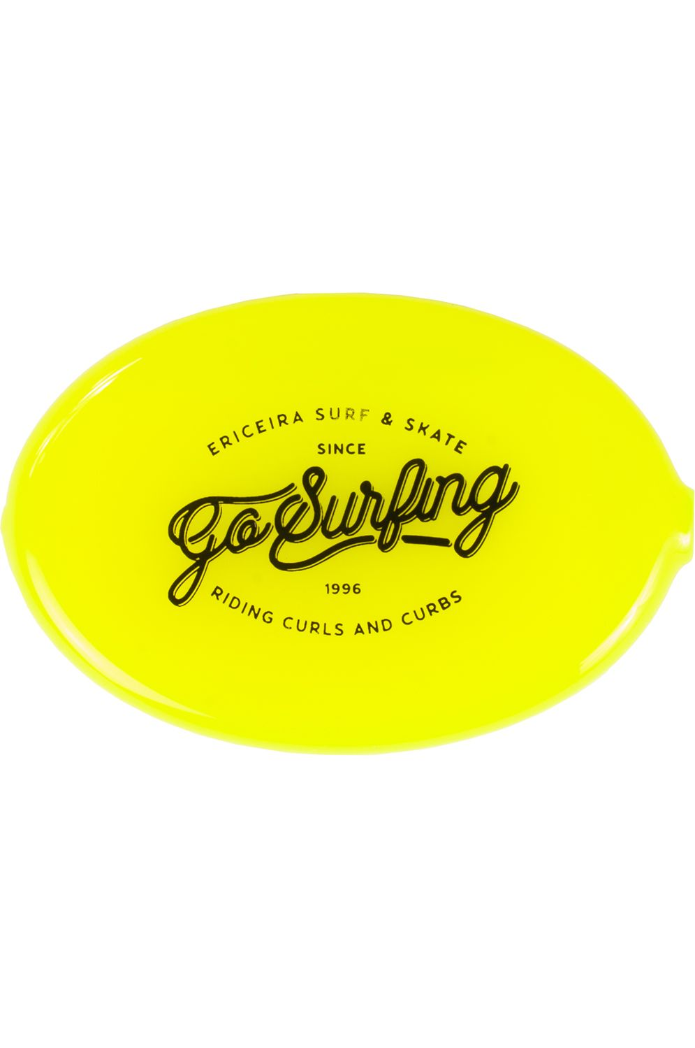 Ericeira Surf Skate Coin Purse MAD WORLD Neon Yellow