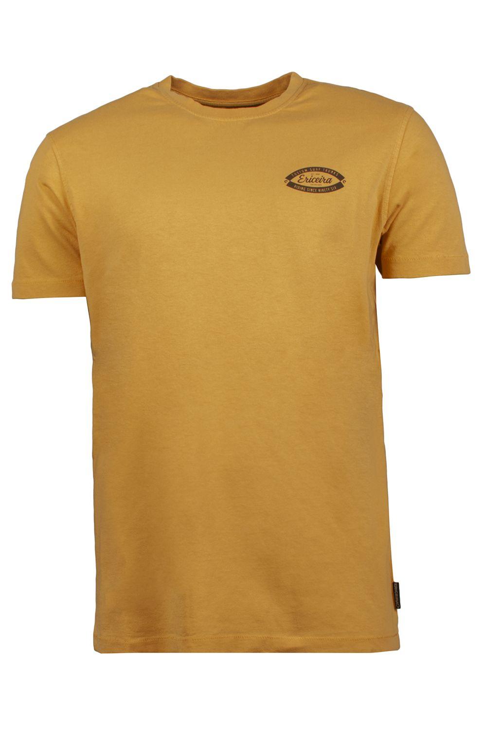 Ericeira Surf Skate T-Shirt SURF TAIL Gold Mustard