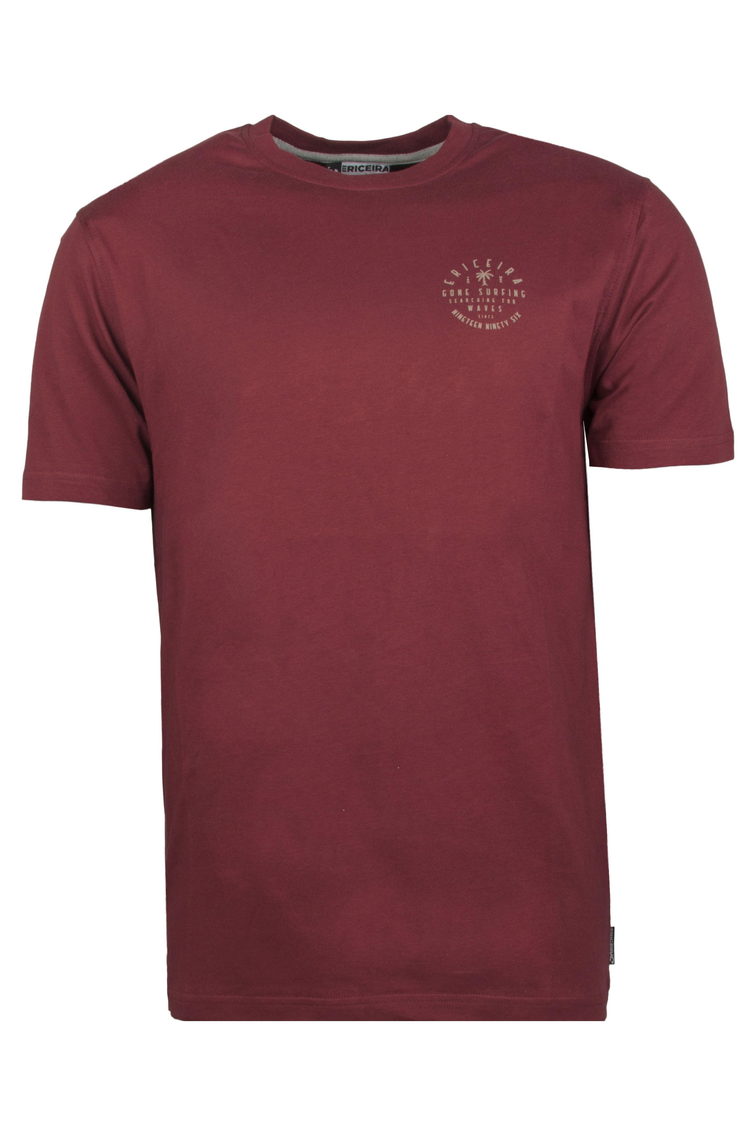 T-Shirt Ericeira Surf Skate GRANADA Dark Ruby