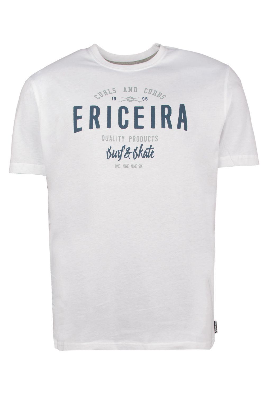 T-Shirt Ericeira Surf Skate CURLS AN CURBS II White