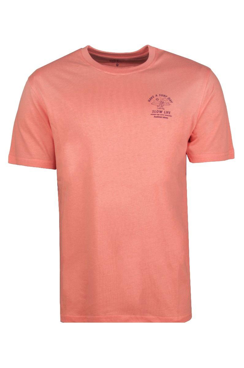 T-Shirt Ericeira Surf Skate RABIT SURFER Coral