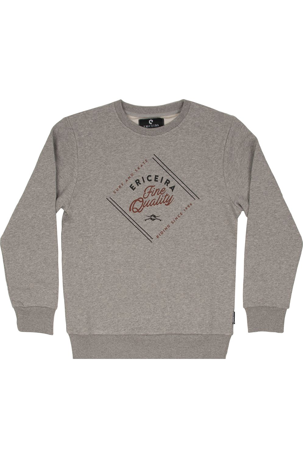 Sweat Basica Ericeira Surf Skate SO LONG Grey Heather