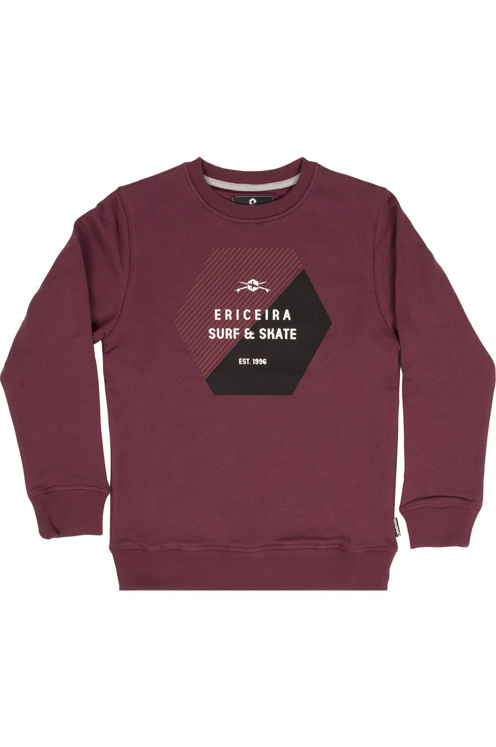 Ericeira Surf Skate Crew Sweat ONE BY ONE Prune
