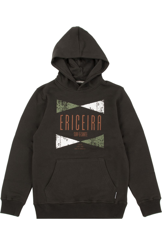 Ericeira Surf Skate Sweat Hood NUSA PENIDA Green Ink