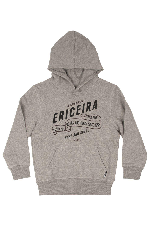 Ericeira Surf Skate Sweat Hood VICTORYA BAY Grey Heather