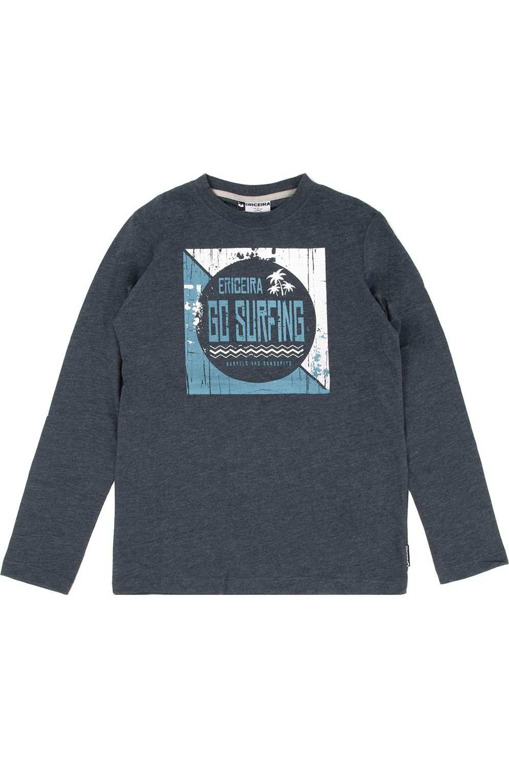Ericeira Surf Skate L-Sleeve DESERT POINT Navy Blue Heather