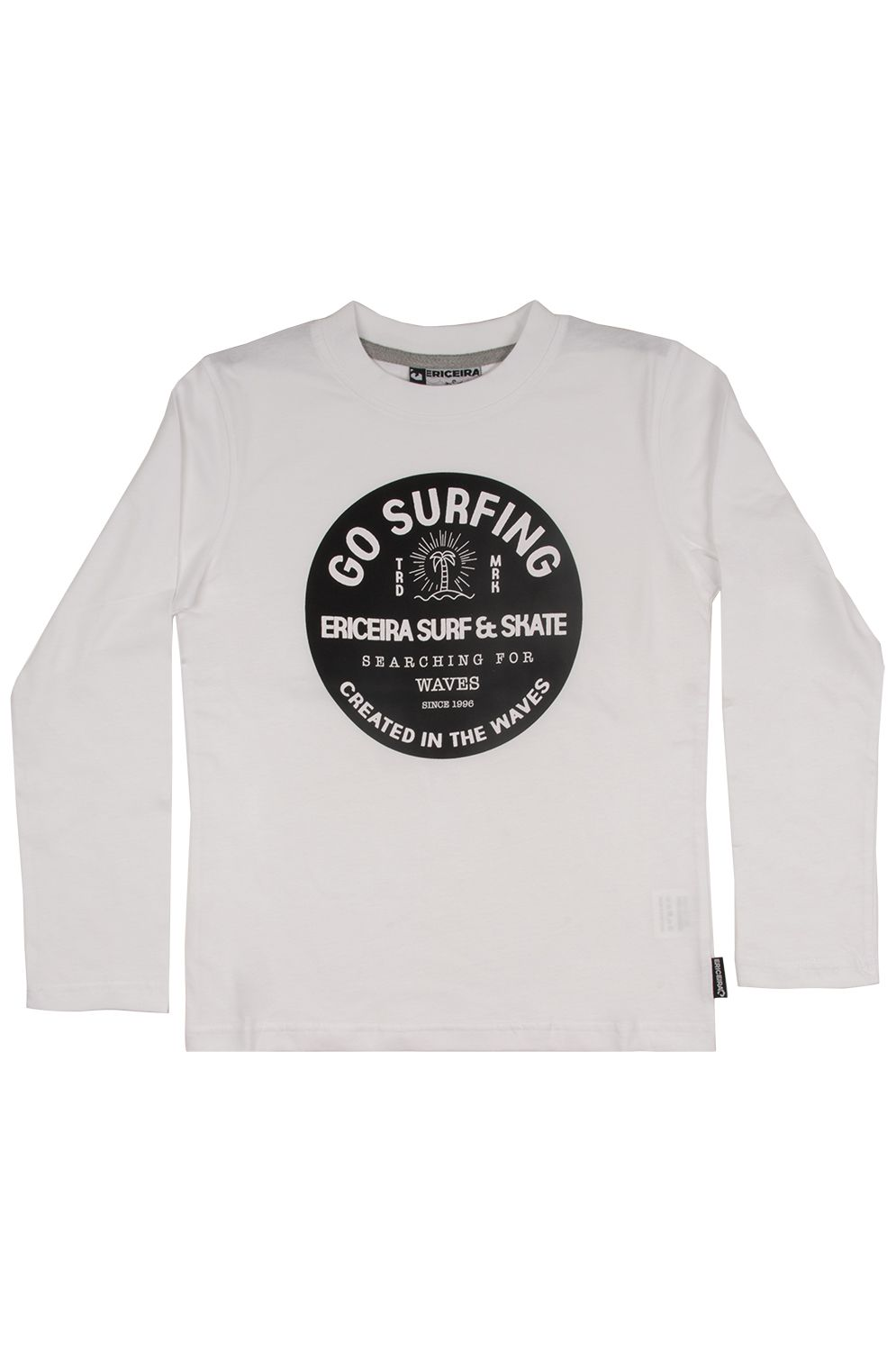 Ericeira Surf Skate L-Sleeve LONG BEACH White