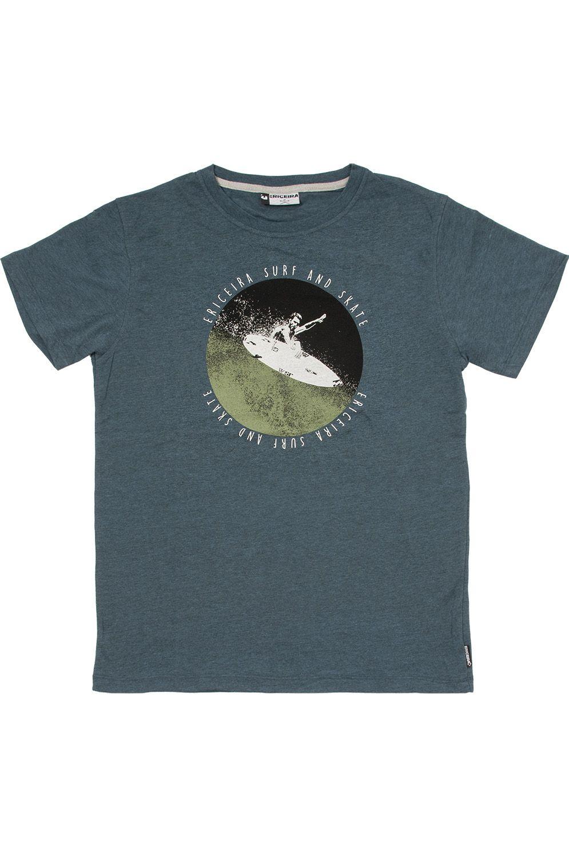 T-Shirt Ericeira Surf Skate KIKAS II Denim Black