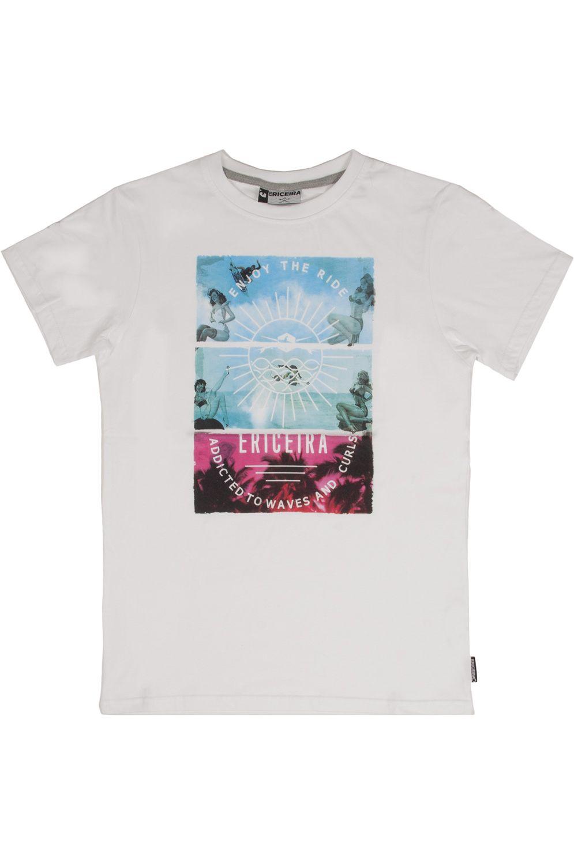 Ericeira Surf Skate T-Shirt FANCY GIRLS White