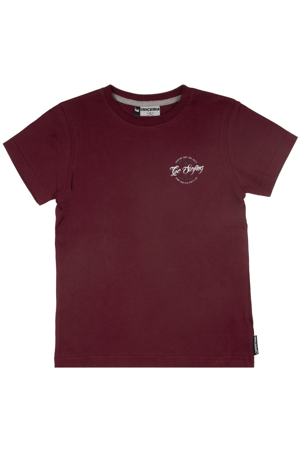 Ericeira Surf Skate T-Shirt CAPE ST FRANCIS Red Earth