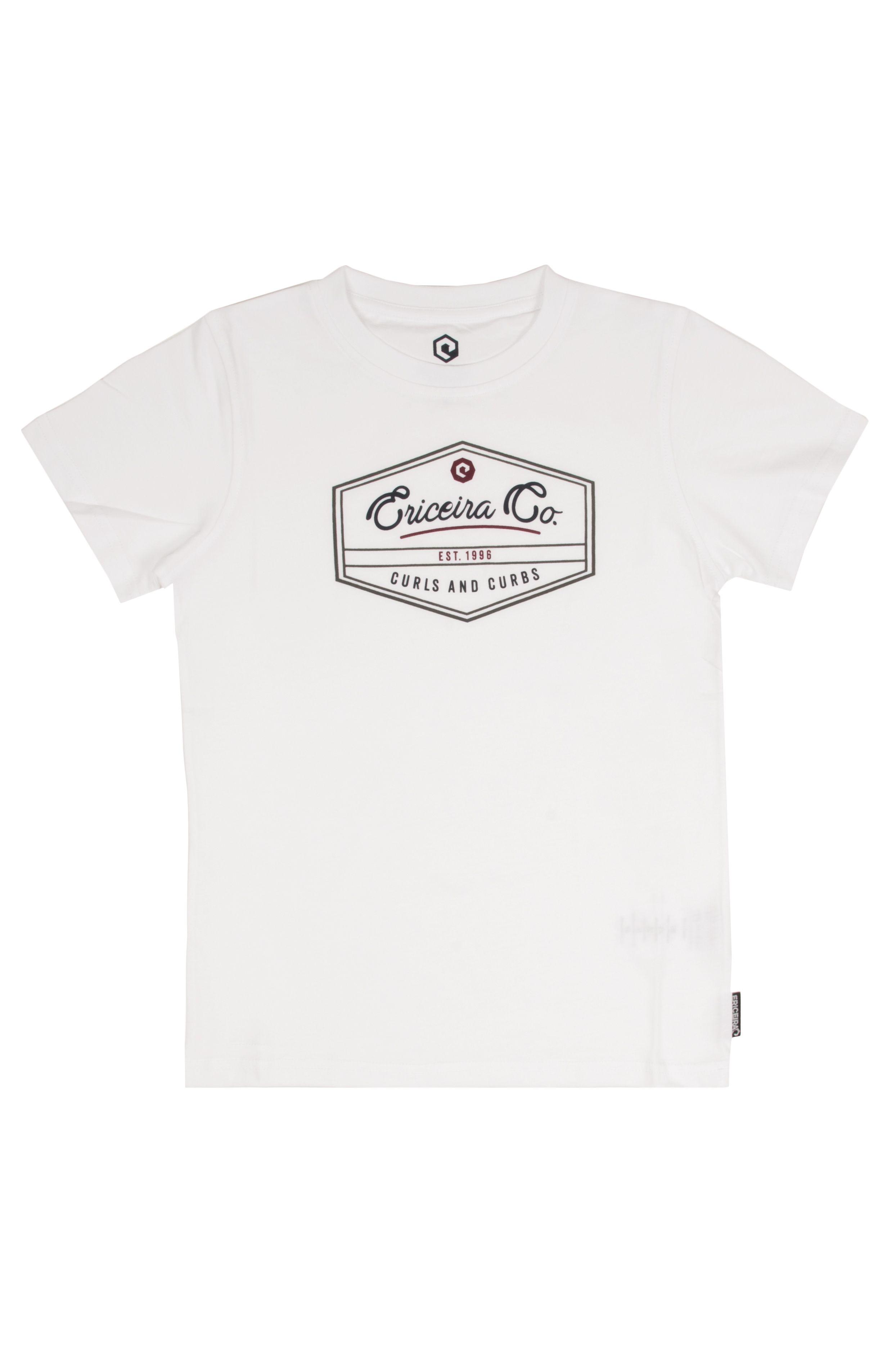 Ericeira Surf Skate T-Shirt HONEY BEE White