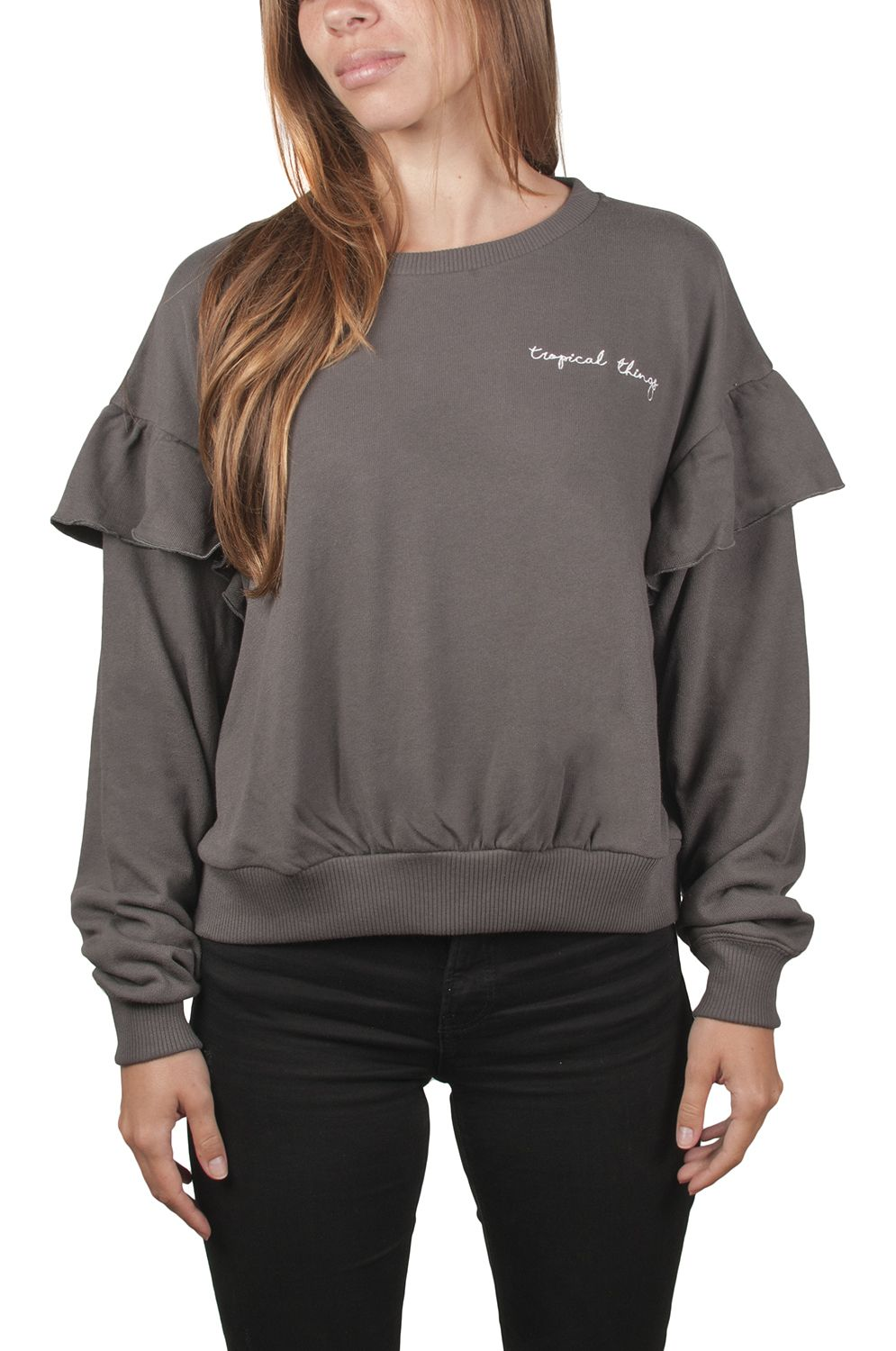 Sweat Basica Ericeira Surf Skate TROPICAL Charcoal