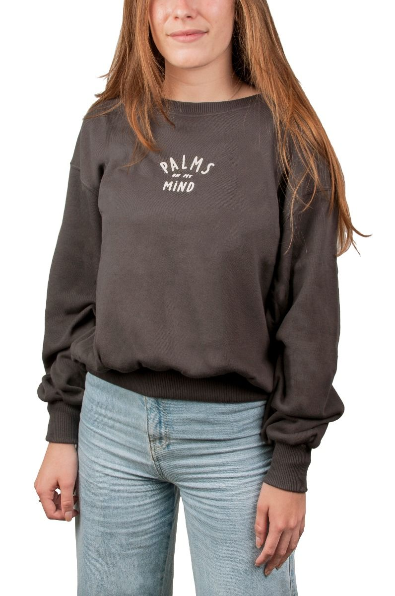 Sweat Basica Ericeira Surf Skate SOL Charcoal