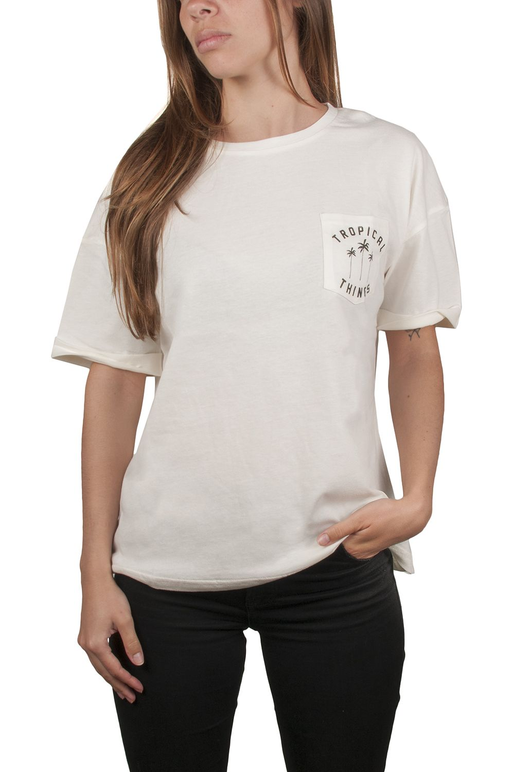 Ericeira Surf Skate T-Shirt TROPICAL THINGS Beije