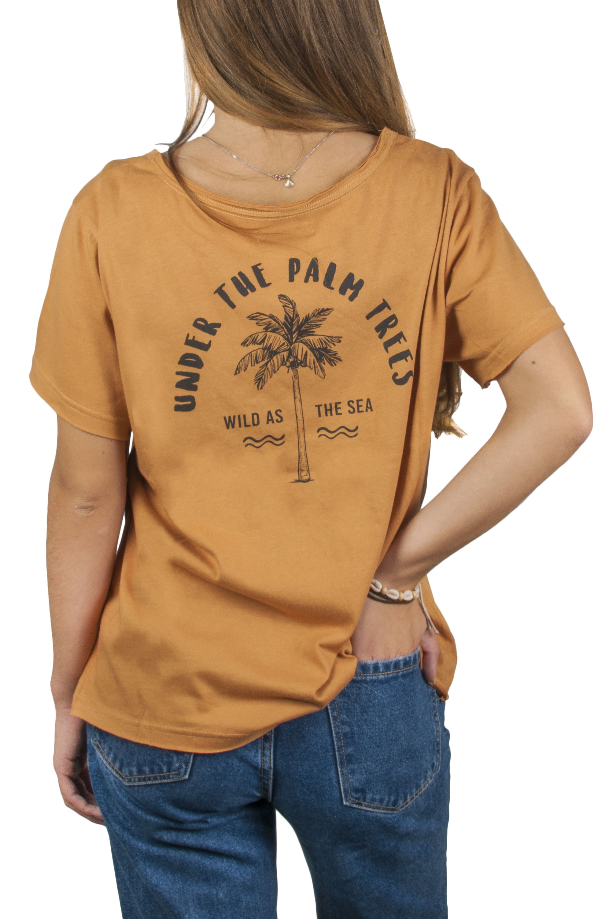 T-Shirt Ericeira Surf Skate WILD Mustard