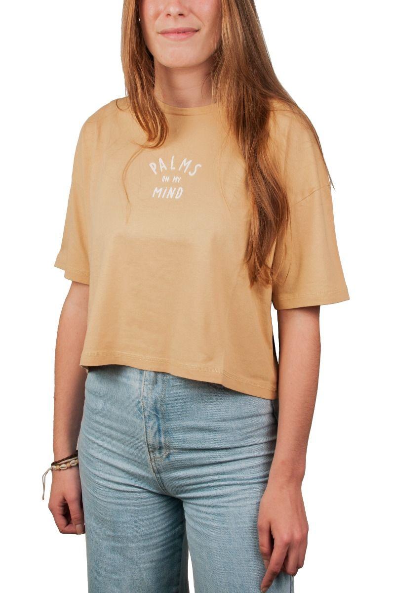 T-Shirt Ericeira Surf Skate SOL Mustard