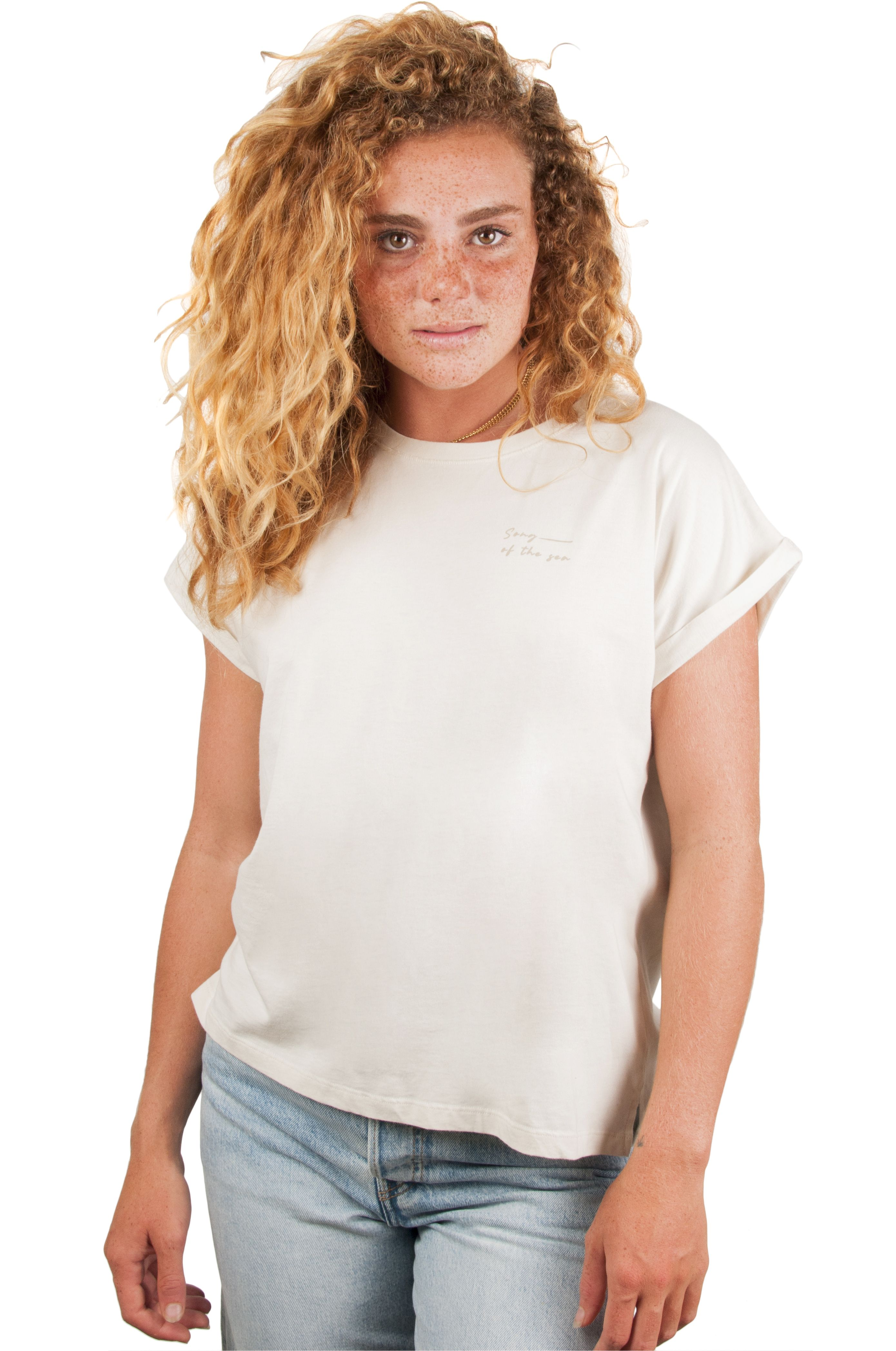 Ericeira Surf Skate T-Shirt SALTY VIBES Beige