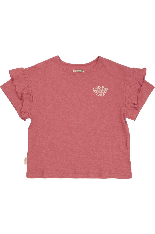 T-Shirt Ericeira Surf Skate PALM TREES Pink Aztec