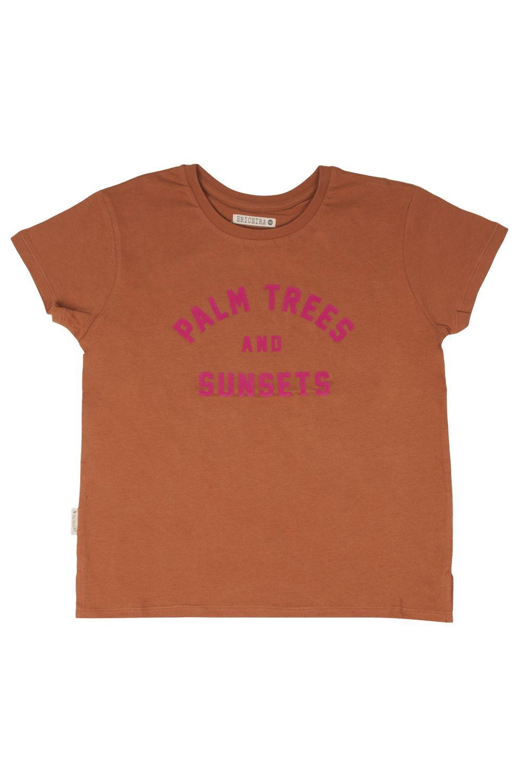 T-Shirt Ericeira Surf Skate SUNSET Rust