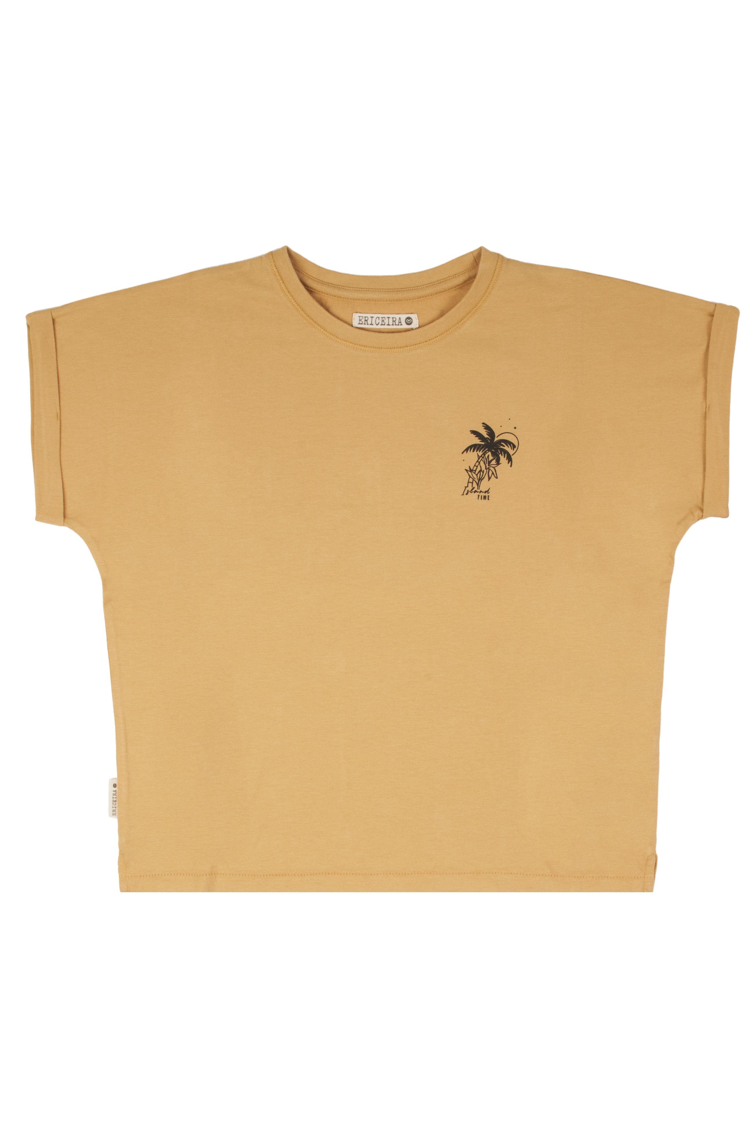 T-Shirt Ericeira Surf Skate TROPICAL Mustard