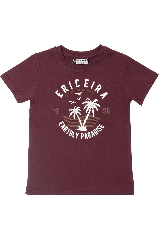 T-Shirt Ericeira Surf Skate PARADISE Dark Ruby
