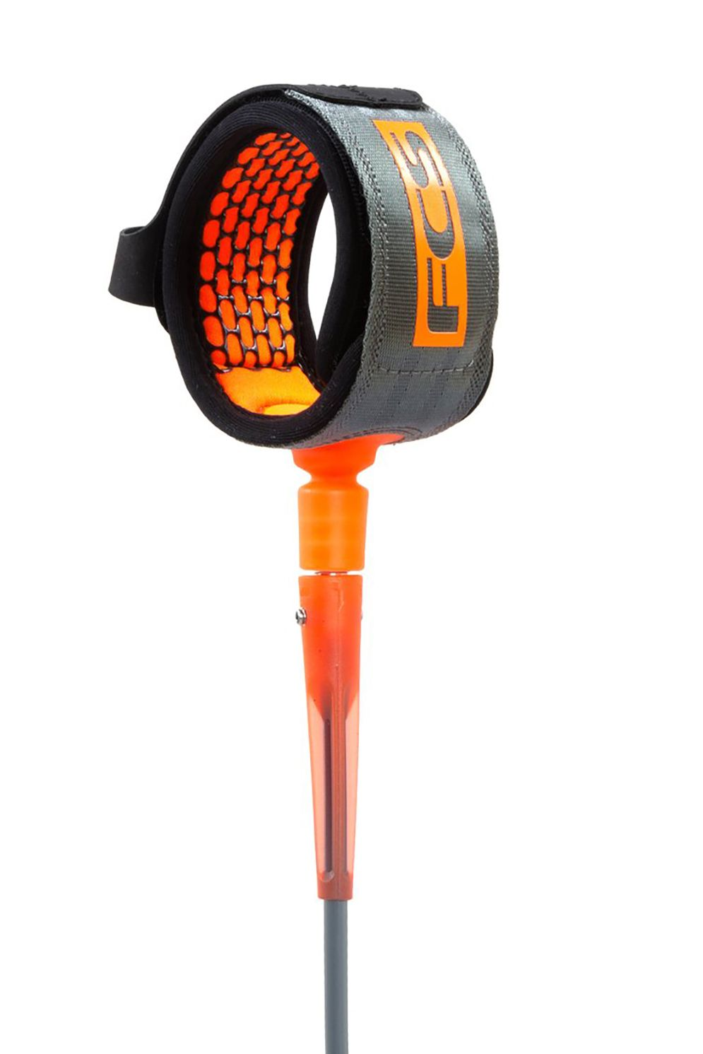 Fcs Leash 6' COMP ESSENTIAL Charcoal/Blood Orange