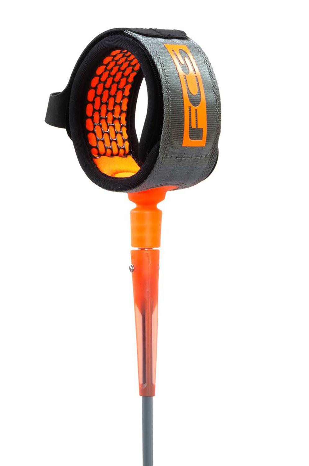 Fcs Leash 7' ALL ROUND ESSENTIAL Charcoal/Blood Orange