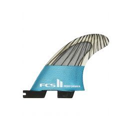 Quilha Fcs II PERFORMER PC CARBON TEAL LARGE TRI RETAIL FINS Tri