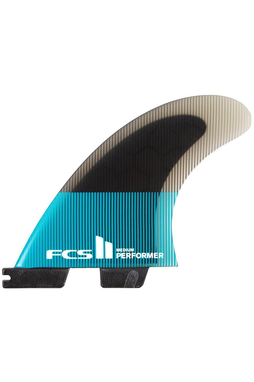Fcs Fins II PERFORMER PC XSMALL TEAL/BLACK TRI Tri