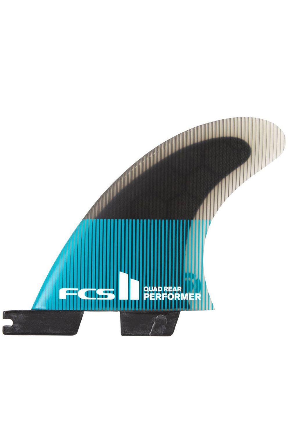Fcs Fins II PERFORMER PC SMALL TEAL/BLACK QUAD REAR Quad Rear