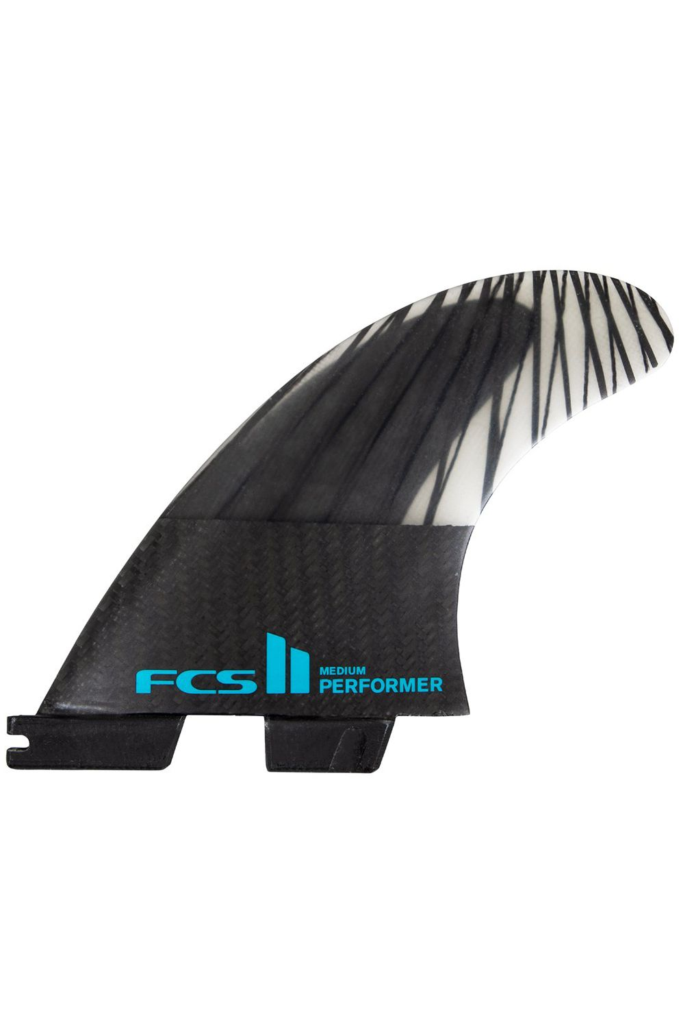 Fcs Fins II PERFORMER PC CARBON LARGE BLACK/TEAL TRI Tri