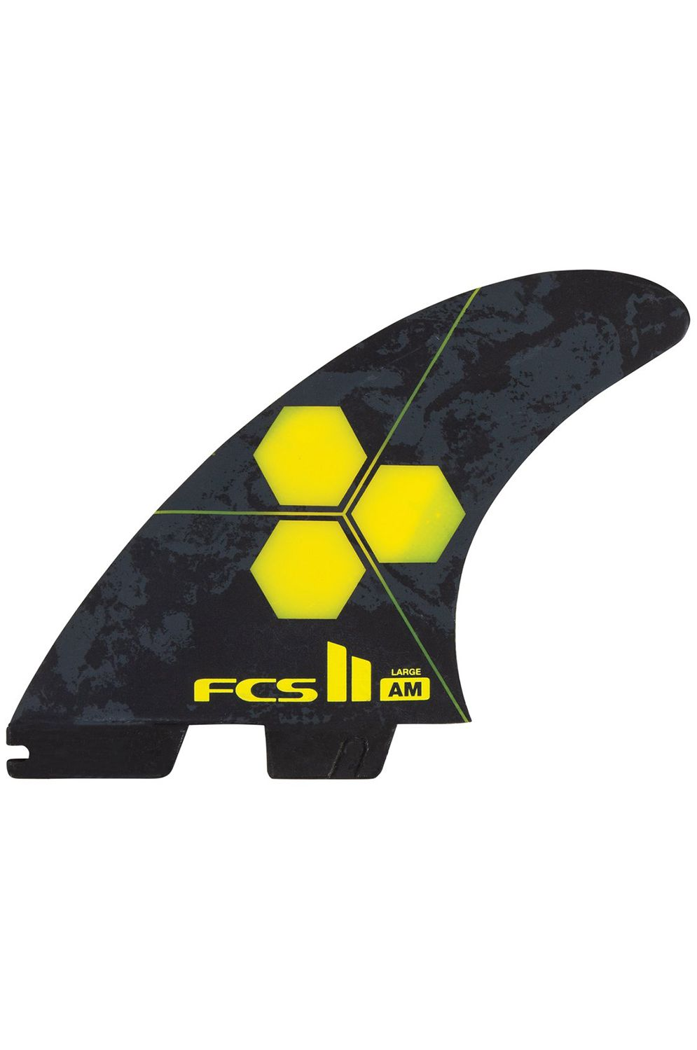 Fcs Fins II AM PC LARGE YELLOW TRI Tri