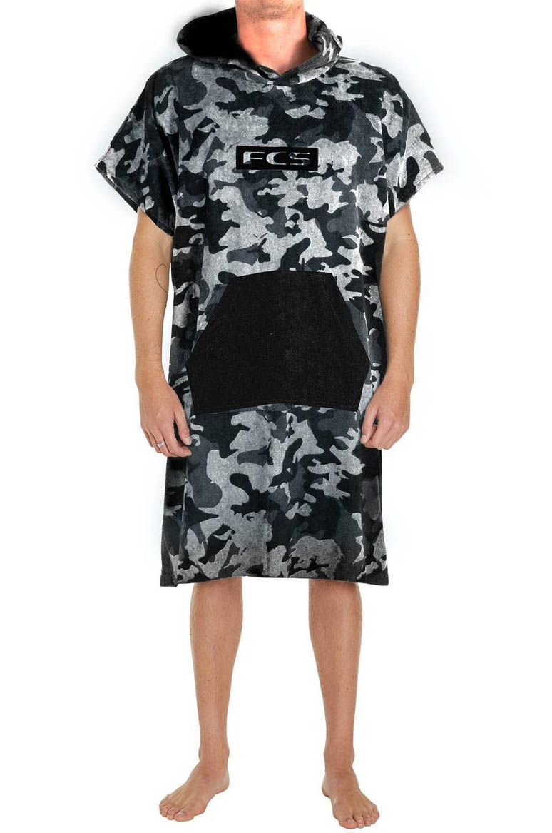 Poncho Fcs JUNIOR TOWEL PONCHO Grey Camo/Black