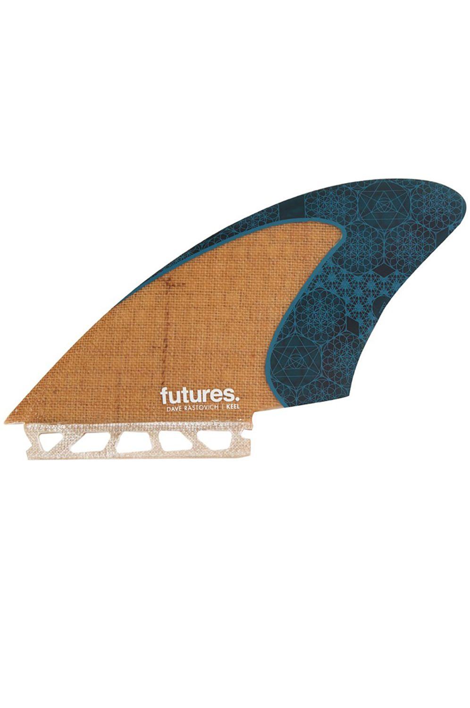 Quilha Future Fins RASTA KEEL JUTE/TEAL Twin/Bonzer