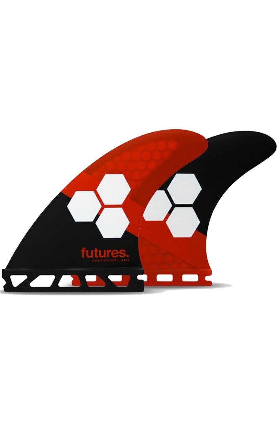 Quilha Future Fins AM3 HONEYCOMB RED/BLACK Tri