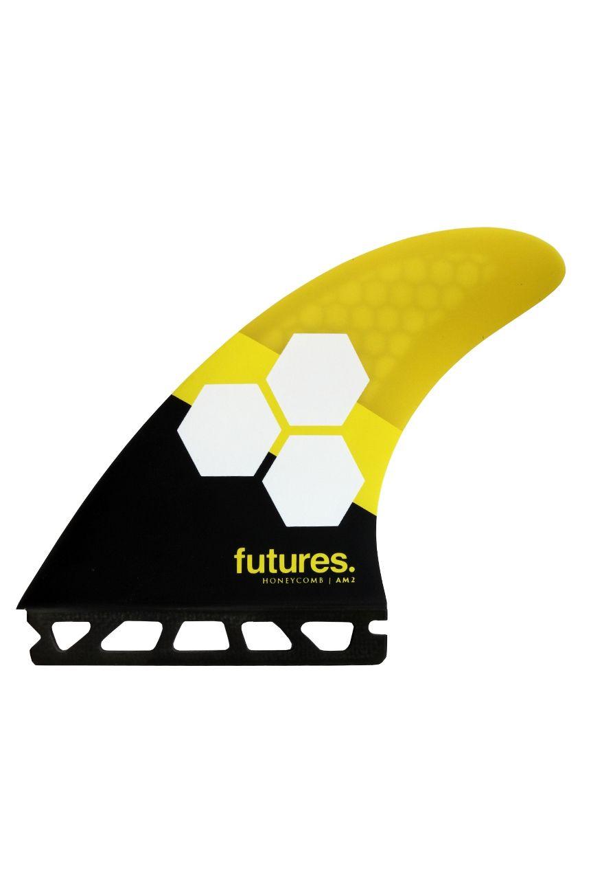 Quilha Future Fins AM2 YELLOW/BLACK Tri