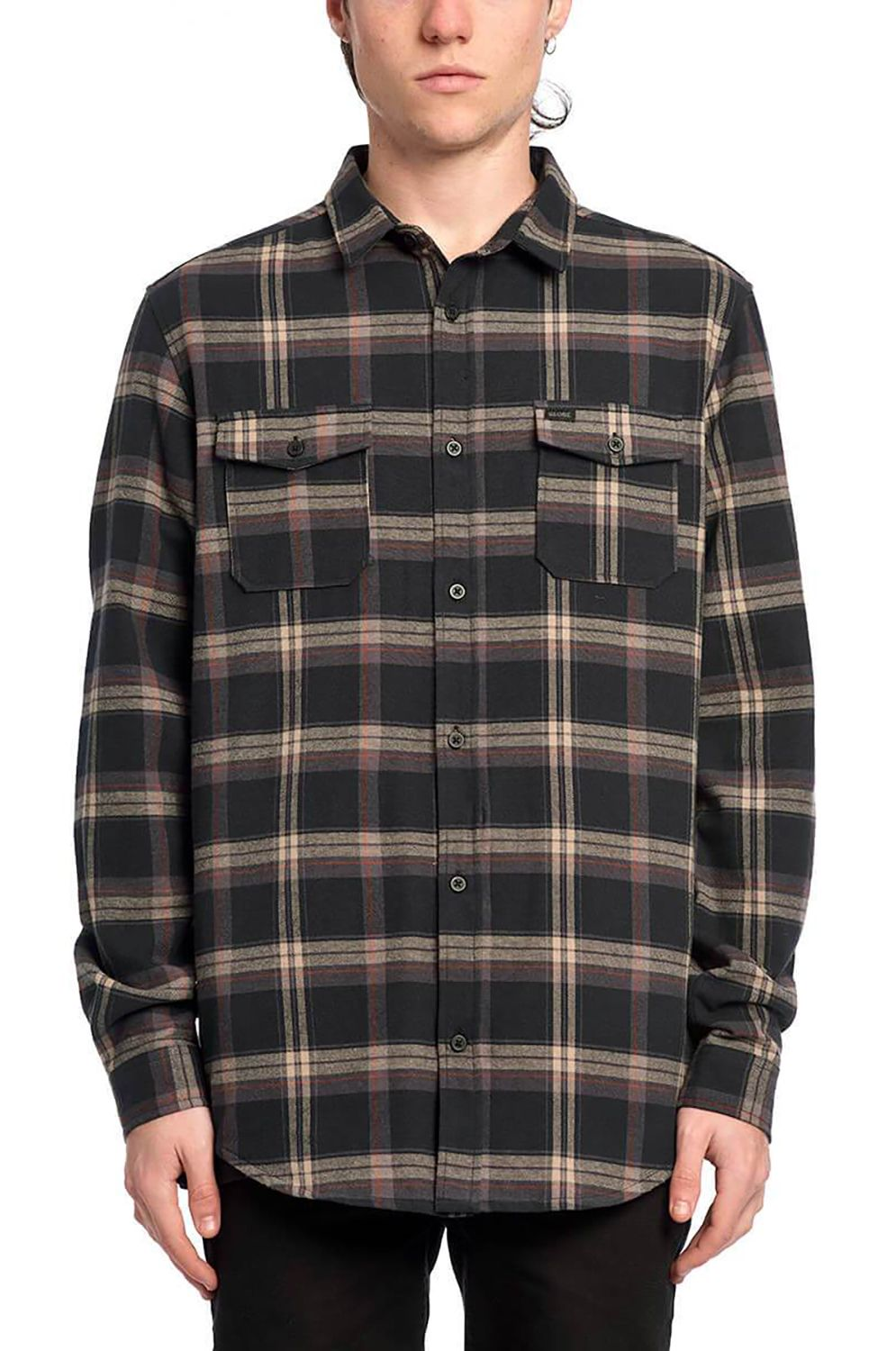 Globe Shirt FLANIGAN LS SHIRT Washed Black