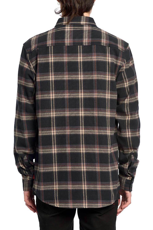 Camisa Globe FLANIGAN LS SHIRT Washed Black