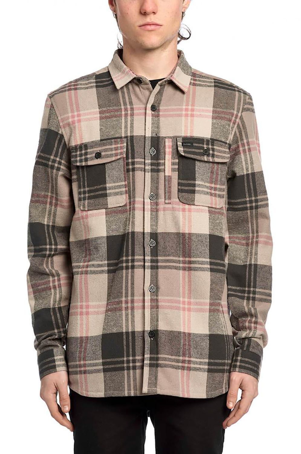 Globe Shirt CLIFTON LS SHIRT Taupe