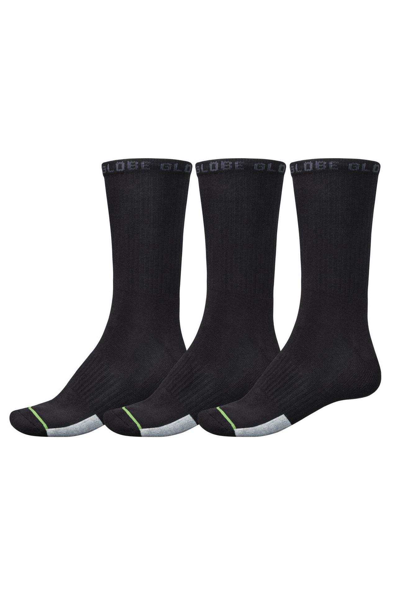 Globe Socks LOW IMPACT CREW SOCK 3 PACK Assorted