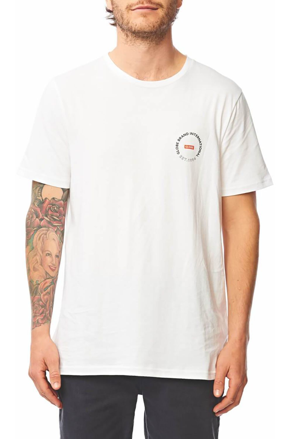 Globe T-Shirt DEVICE White