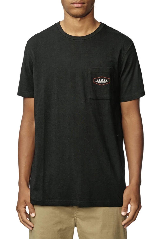 Globe T-Shirt HEMISPHERE Black