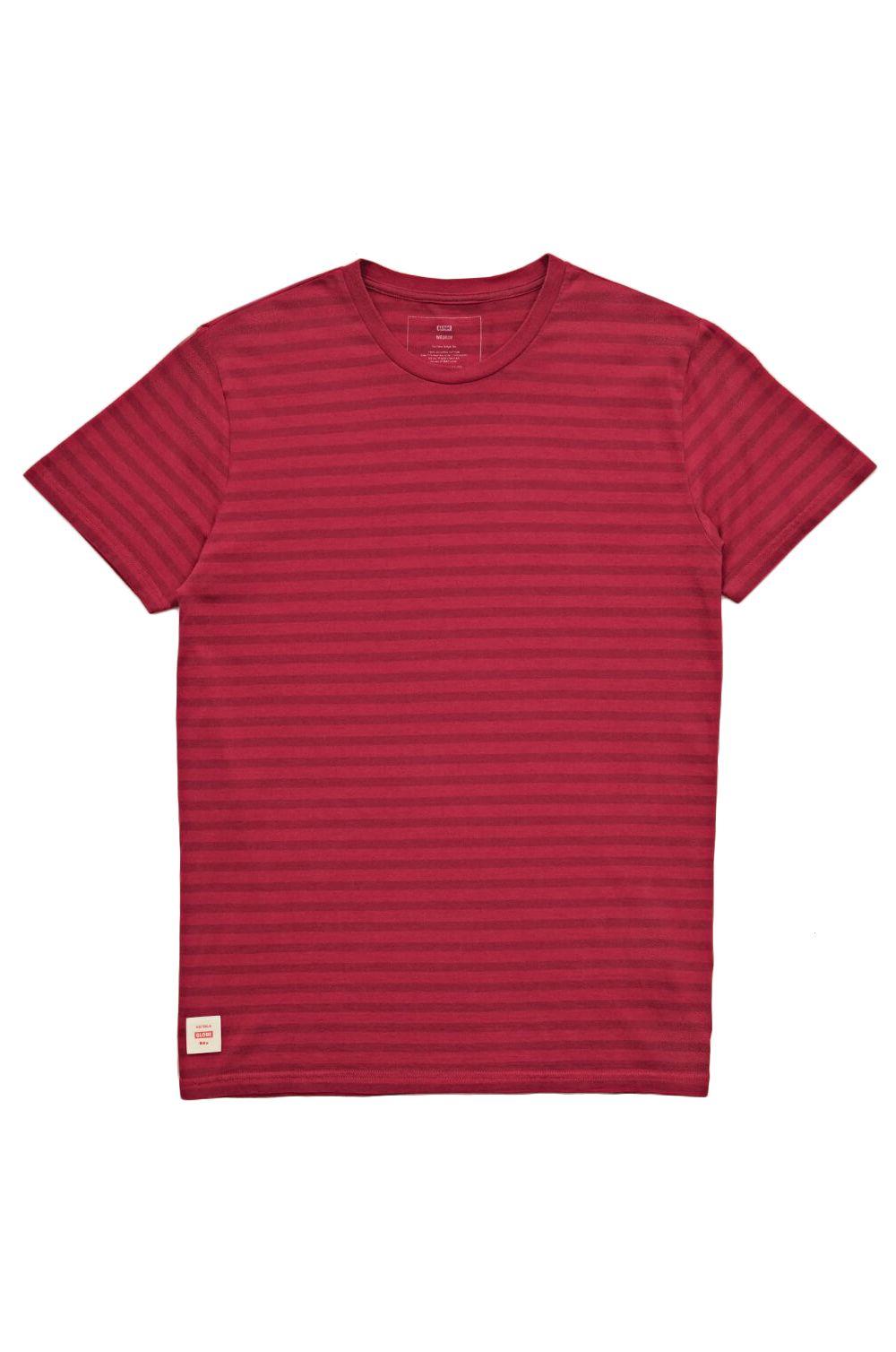T-Shirt Globe HORIZON STRIPED TEE Rhubarb