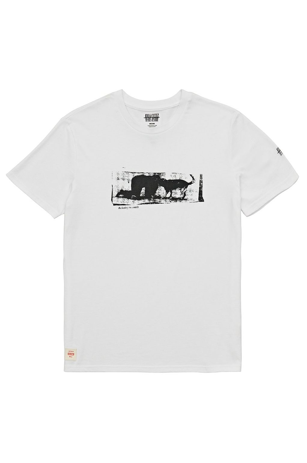 T-Shirt Globe REFUSE TO COMPLY TEE White